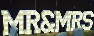 Light Up LED Letters for Weddings in Ireland